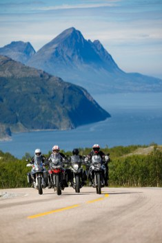 BMW F 850 GS, Honda CRF1000L Africa Twin Adventure Sports, Suzuki V-Storm 1000, Triumph Tiger 800, Reiseenduro Vergleich, MRD Heft 18/18, Schweden, Norwegen