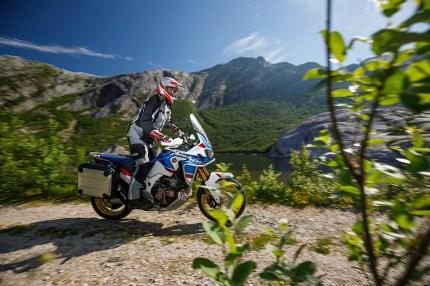 Honda CRF1000L Africa Twin Adventure Sports, Reiseenduro Vergleich, MRD Heft 18/18, Schweden, Norwegen