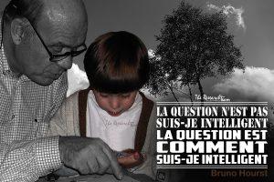 Woluwé Saint-Pierre, Belgique. Petite-fille et son grand-père échangent avec leurs intelligences pour résoudre une énigme.