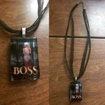 Necklace with the cover of Boss
