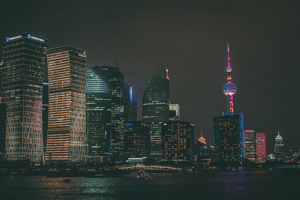 Shangai - Skyline Nocturno