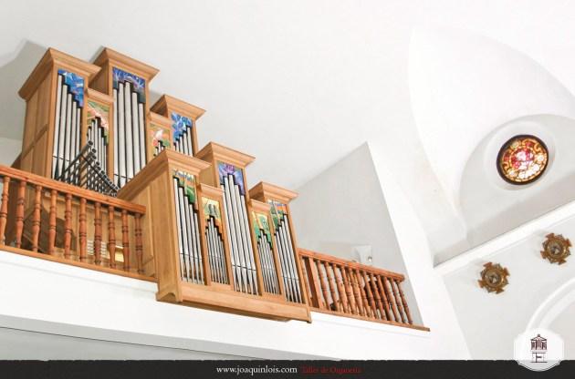 Órgano restaurado por el taller de organería de Joaquín Lois.