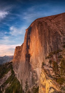 Sunset on Half Dome from The Diving Board, Yosemite National Park. www.JLongPhoto.com