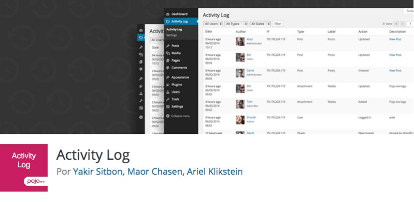 Activity Log es un plugin gratuito para WordPress