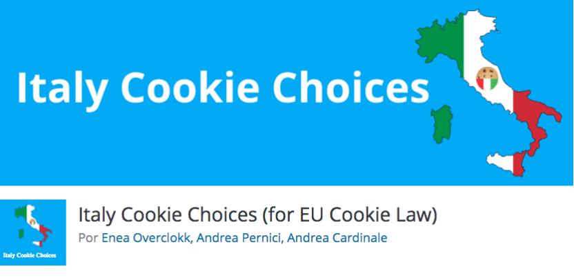 italy cookie choices wordpress plugin