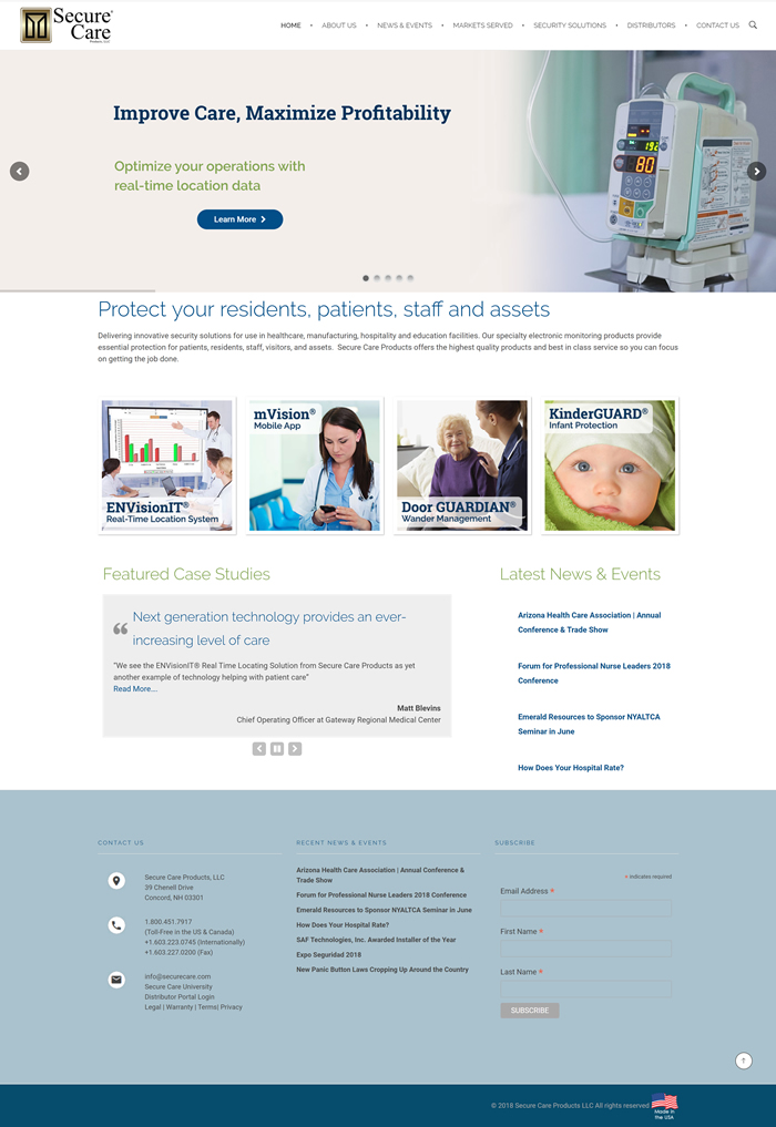 Website Design: Secure Care
