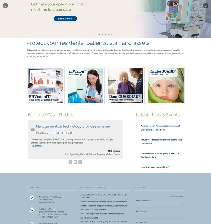 Website Design: Secure Care