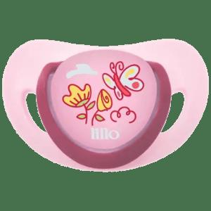 Chupeta Lillo Elegancy Ortodôntica Silicone Rosa nº 1