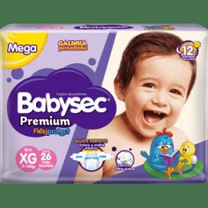 Fralda Babysec Premium Galinha Pintadinha Mega - Tamanho XG