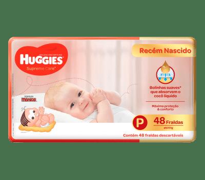 Fralda Huggies Supreme Care Mega - Tamanho P