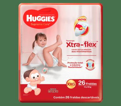Fralda Huggies Supreme Care Mega - Tamanho XXG