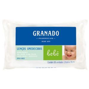 Lenço Umedecido Granado Bebê Erva Doce