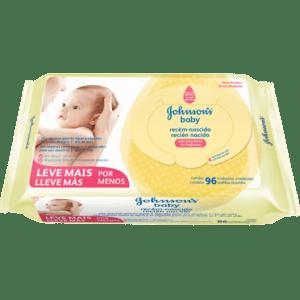 Lenço Umedecido Johnson's Baby Recém Nascido - Embalagem c/96 unidades