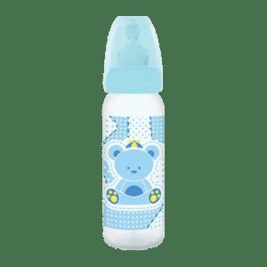 Mamadeira Lillo Primeiros Passos Silicone Azul 240 ml