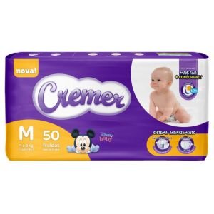 Fralda Cremer Disney Baby Mega - Tamanho M