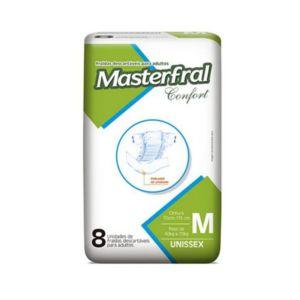 Fralda Masterfral Confort – Tamanho M – Pacote 8 unidades