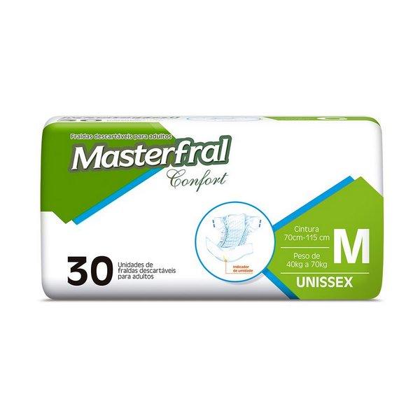 Fralda Masterfral Confort Mega - Tamanho M - Pacote c-30 unidades_JMC_Fraldas