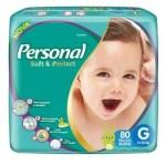 Fralda Personal Baby Hiper – Tamanho G – Pacote 80 unidades