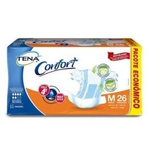 Fralda Tena Confort Mega – Tamanho M – Fardo 78 unidades