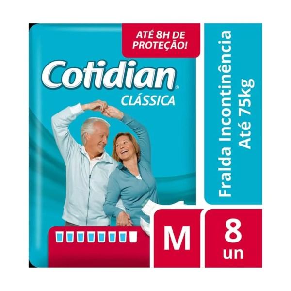 Kit com 8 Pacotes de Fralda Cotidian – Tamanho M - JMCfraldas