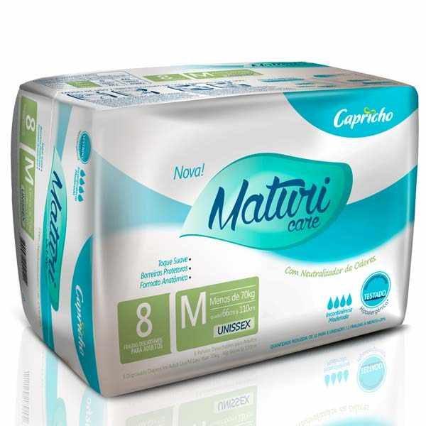 Fralda Maturi Care Mega – Tamanho M - kit INCAvoluntarios