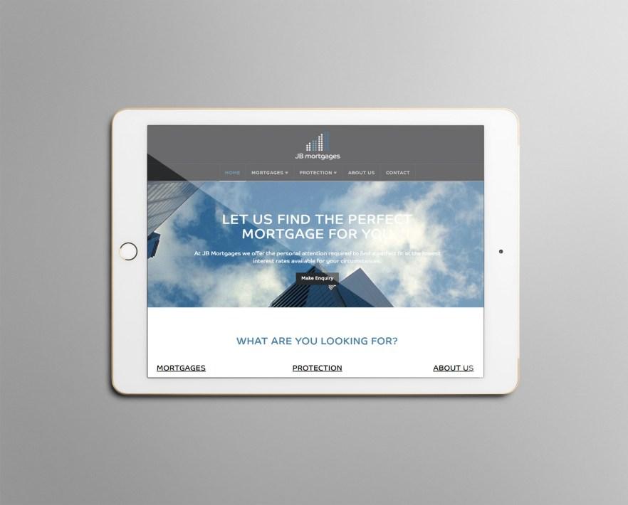 JB Mortgages website on ipad