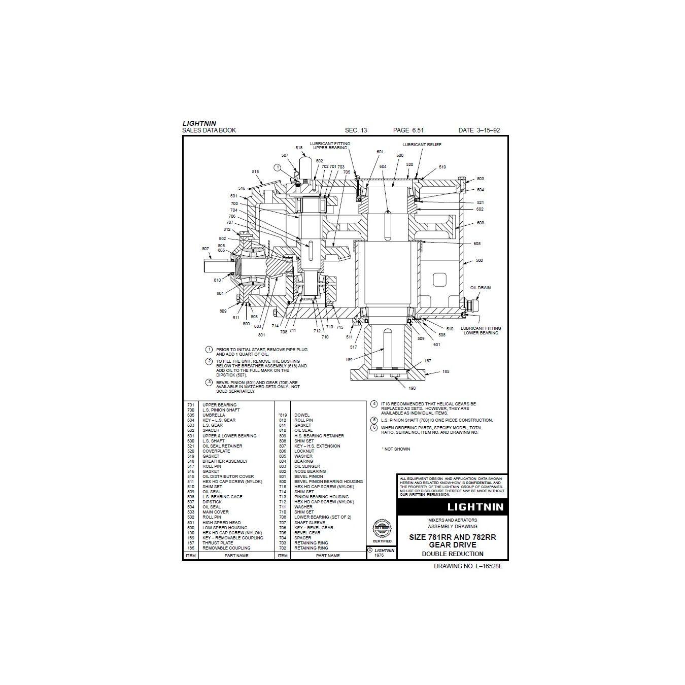 Used 75 Hp Lightnin Mixer Agitator Drive Model Lat 150