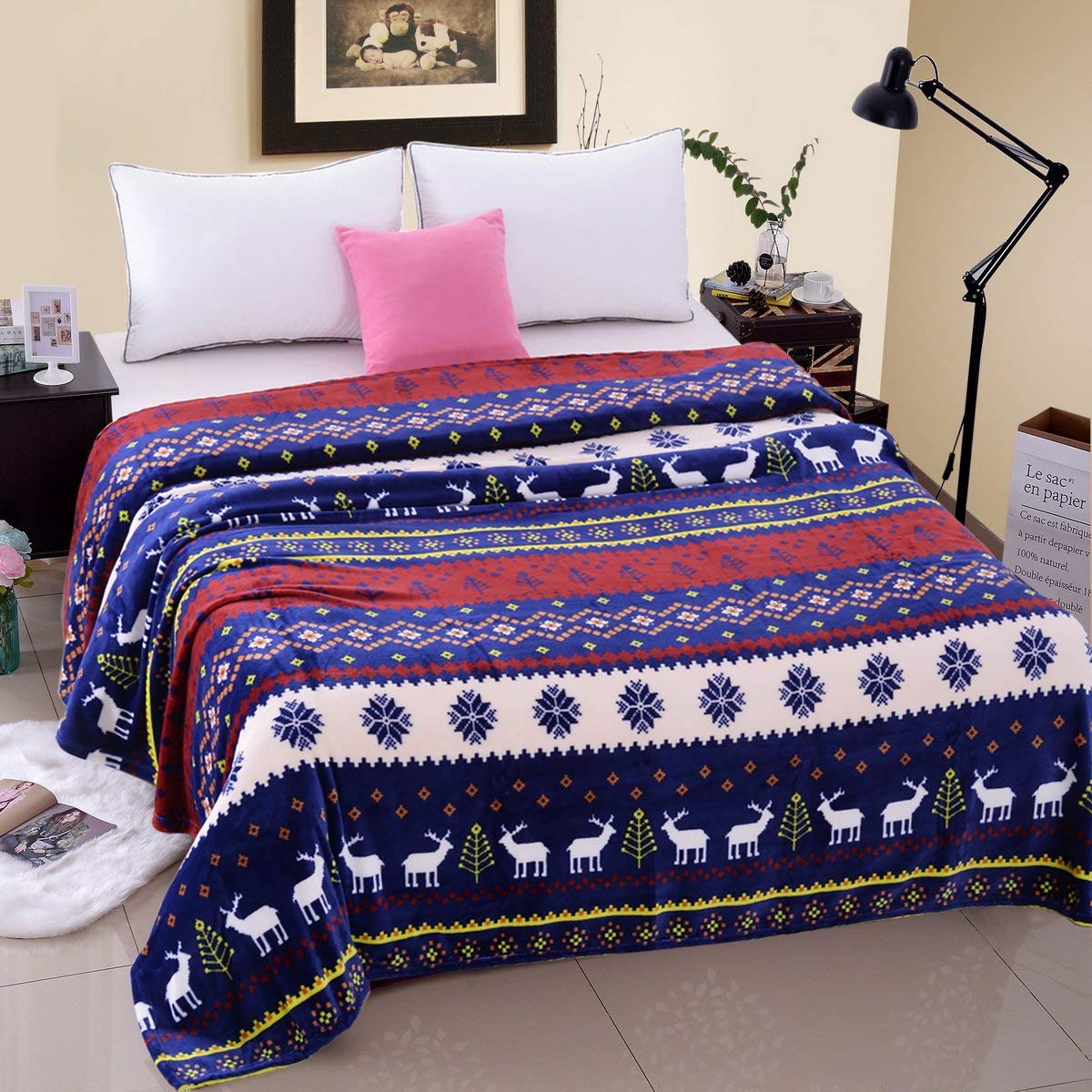 Flannel Fleece Blanket Plush Super Soft Warm Fuzzy
