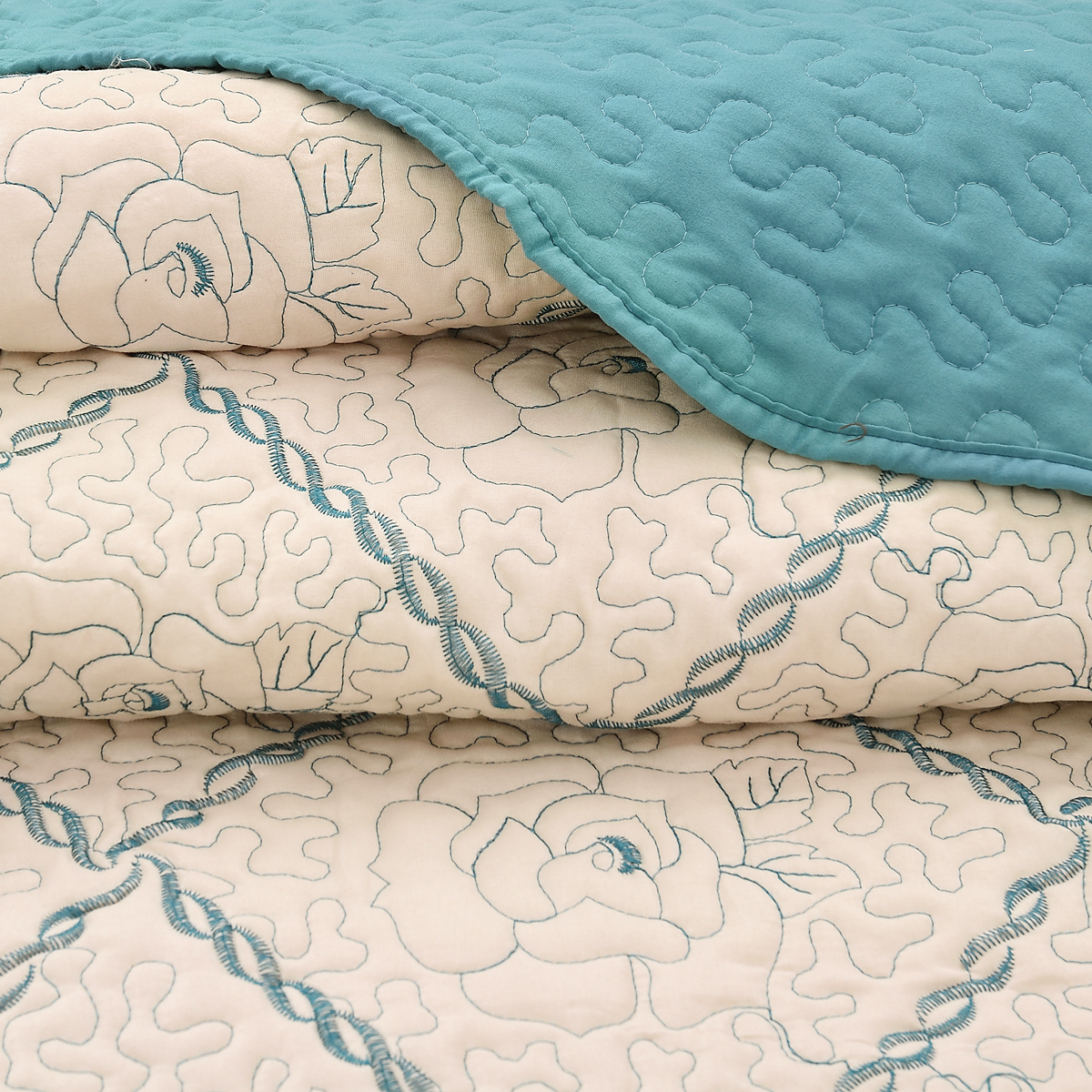 Luxury 3 Pieces Quilt Set Queen Size Soft Brushed