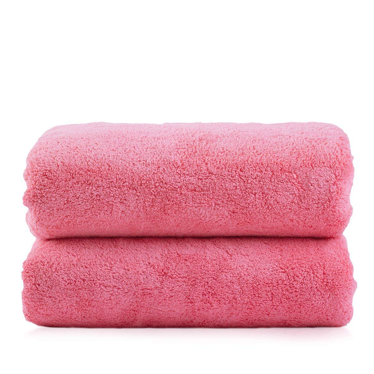 2 Pack Microfiber Plush Bath Towel 30 x 60 inches 350GSM Soft Absorbent 6 Colors