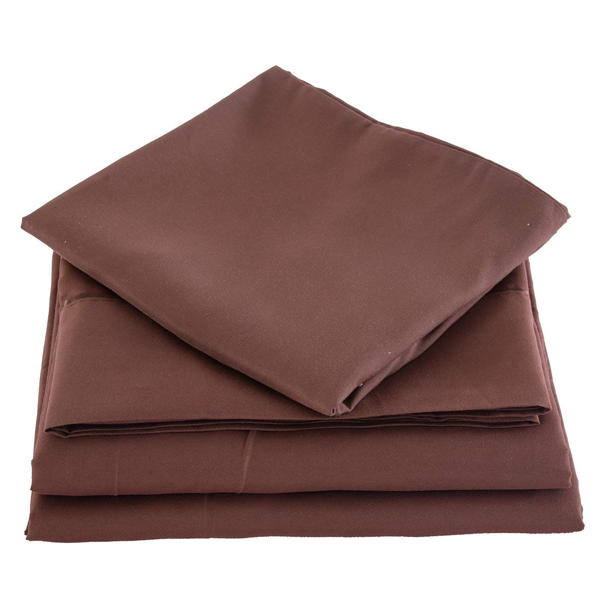Full Bed Sheets Set Made From Super Soft Microfiber Grip
