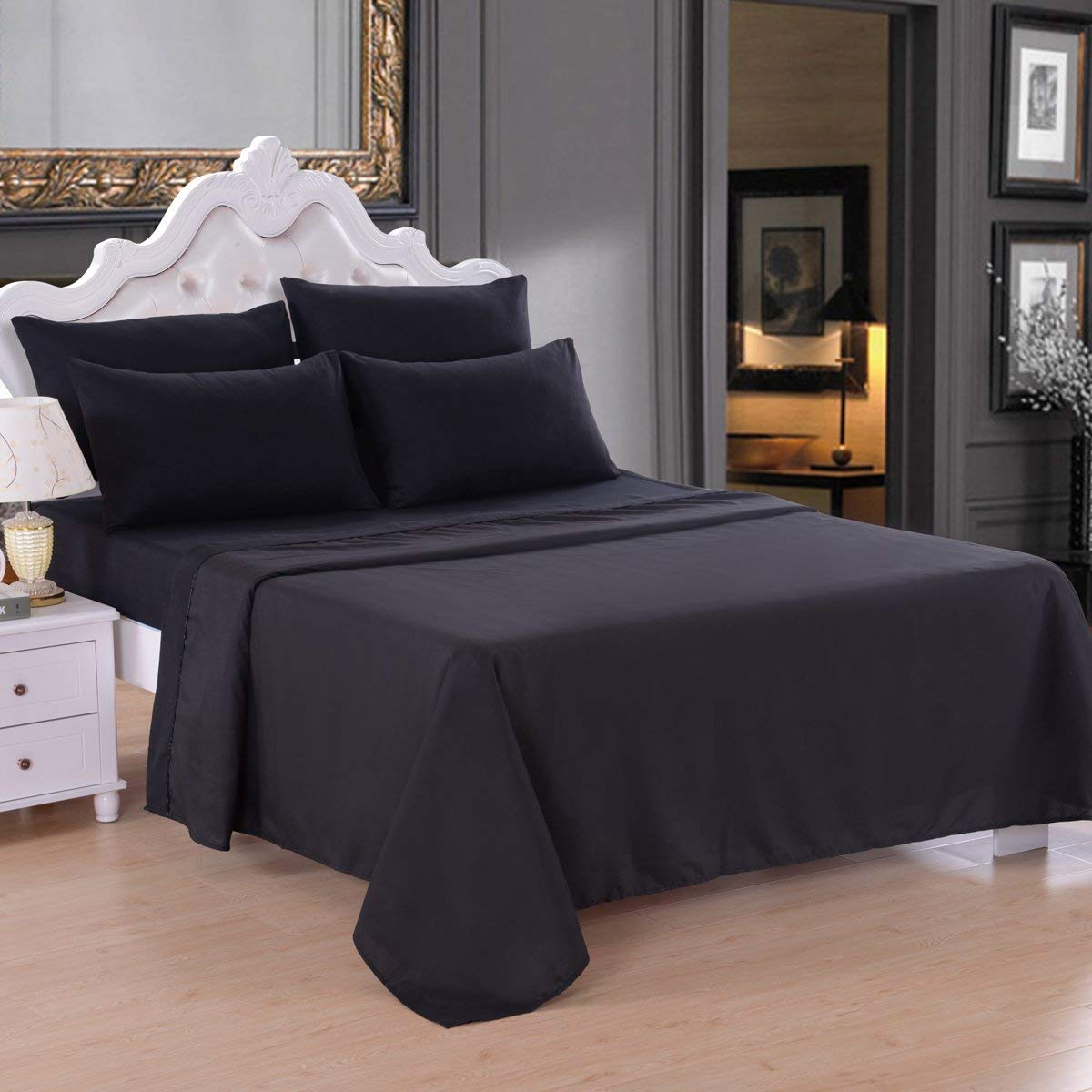 4 Pieces Sheets Bedding Sets Deep Pocket Up To 14