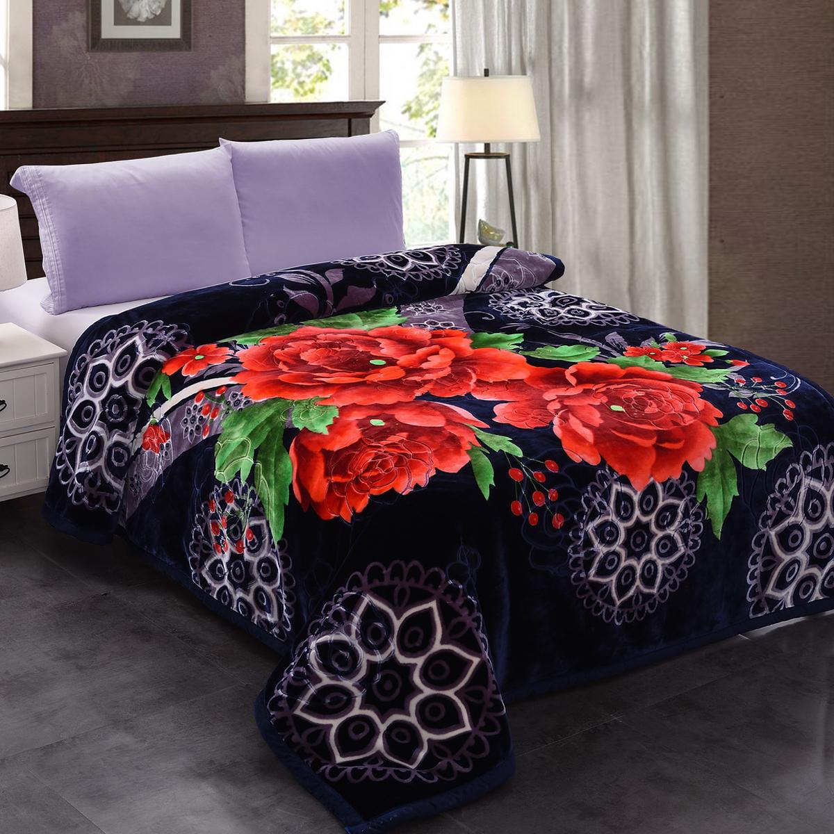 Heavy Thick Plush Velvet Korean Style Mink Blanket Two