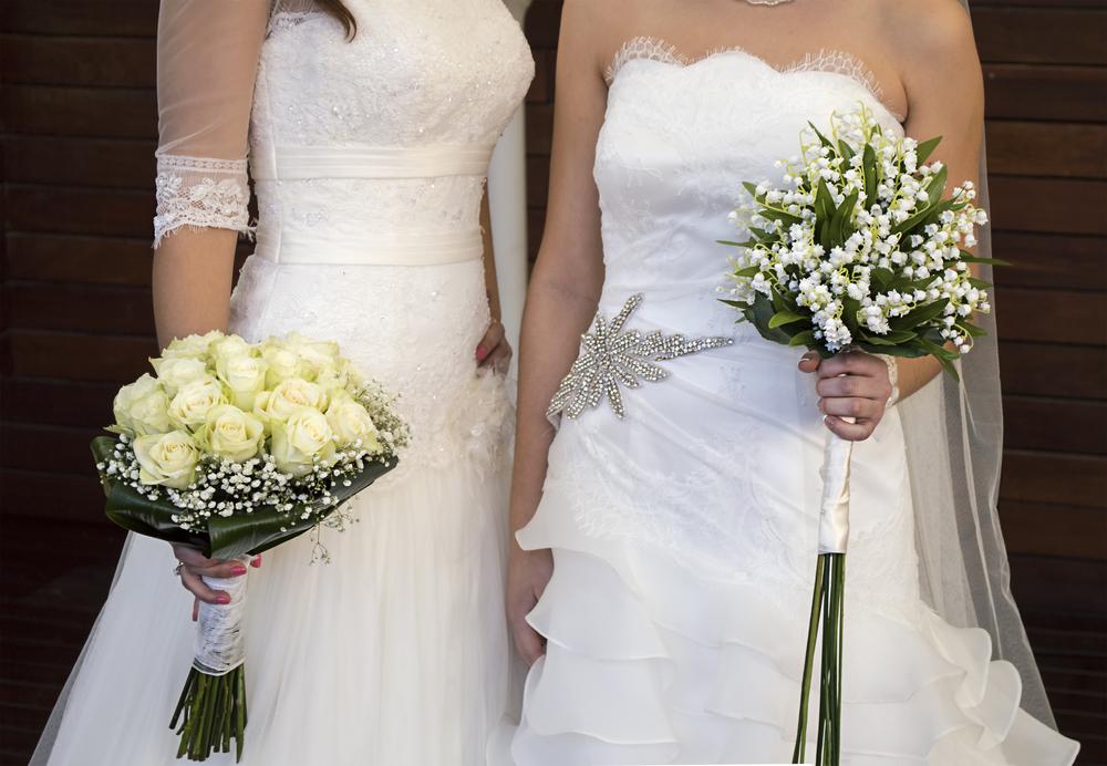 two women brides