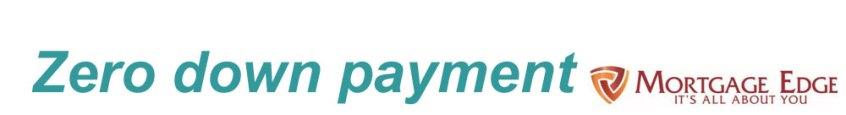 Zero down payment