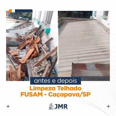 Atualização 4 - Limpeza de cobertura do Hospital da FUSAM em Caçapava SP