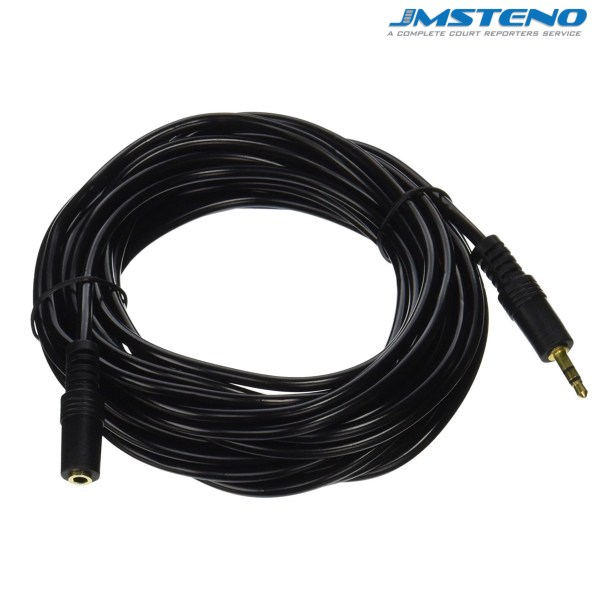 25 Feet Audio Cable 3.5mm Male Female