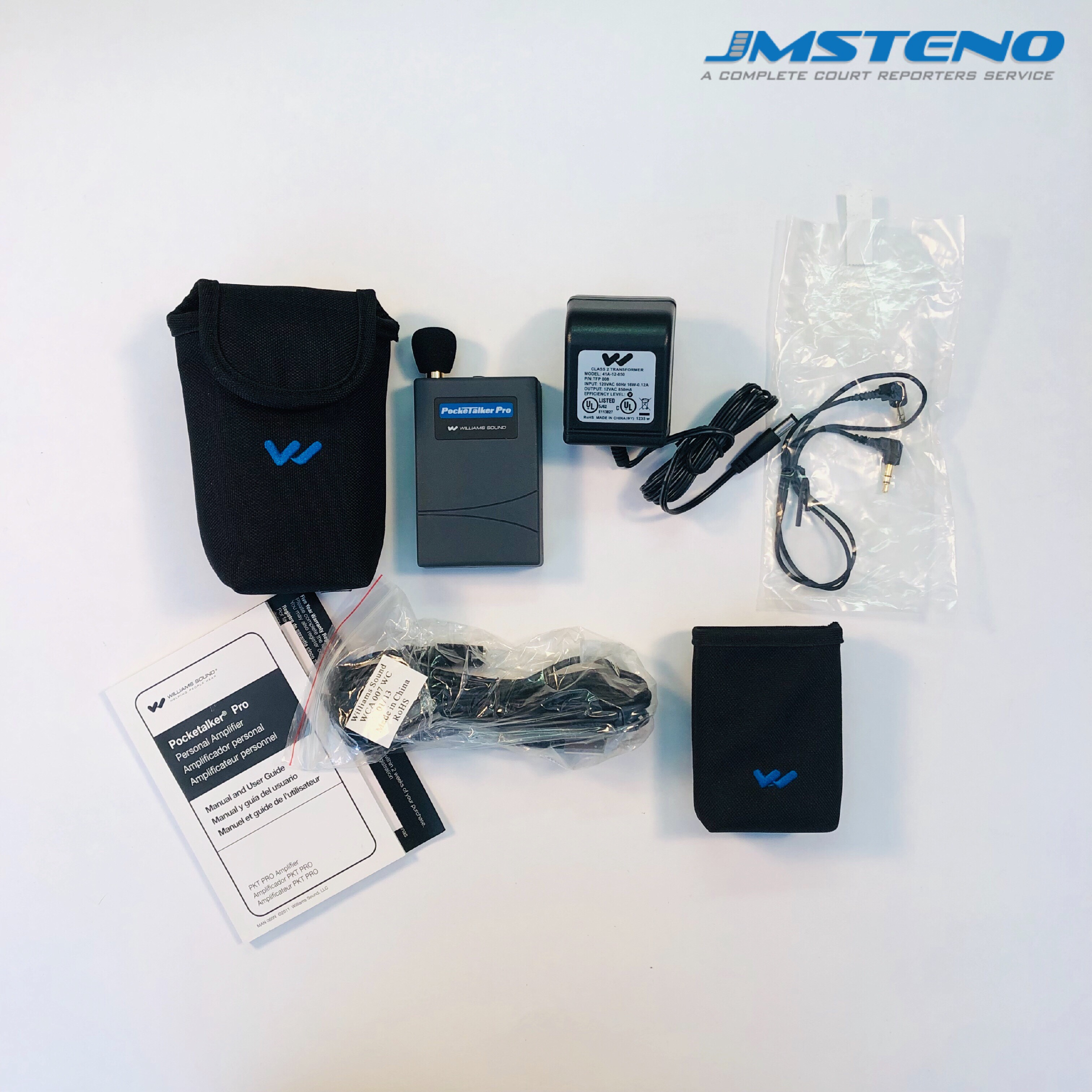 No Earphone Williams Sound PKT PRO1-0 Pocketalker Pro System Omnidirectional Microphone