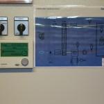 Apparatskåps dörr med driftkort och styrpanel