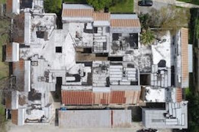 commercial roof replacement- before reference photo