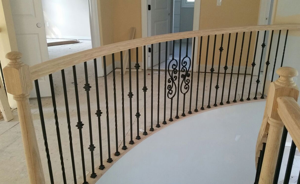 Baluster Replacement J J Elite Carpentry | Replacement Wood Stair Balusters | Cheap | Horizontal | Hallway | Split Entry | Cast Iron