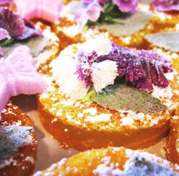 Lemon Cakes and Violets