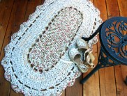 Rag Rug Finished | How to make rag-rug yarn from sheets and fabrics.