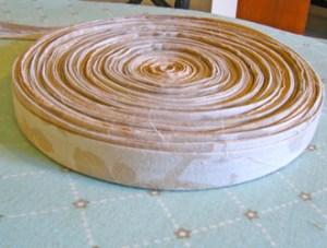 Rag Rug Yarn Wrapped | How to make rag-rug yarn from sheets and fabrics.