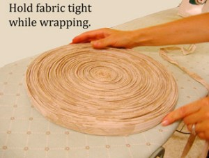 Wrapping Rag Rug Yarn | How to make rag-rug yarn from sheets and fabrics.