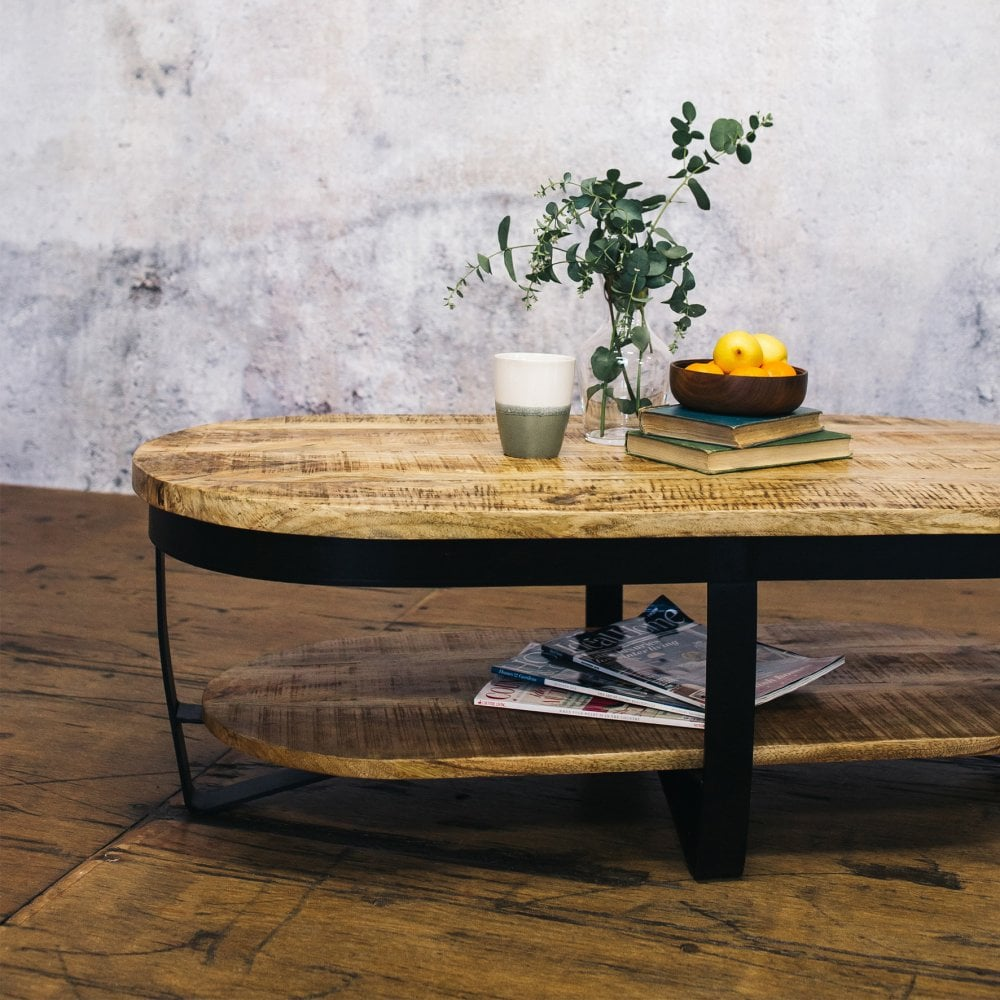 j n rusticus lowther oval coffee table