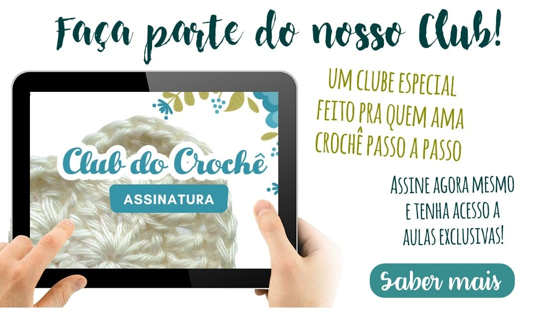 club do croche passo a passo