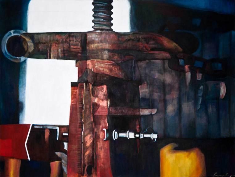 "Big Squeeze 68"" x 90"" Mixed Media on Canvas"