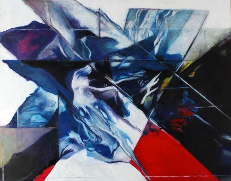 "Ice Blink 48"" x 59.75"" Mixed Media on Canvas"