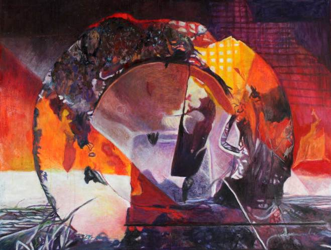 """Morning Becomes Electra 36"""" x 47.5"""" Mixed Media on Canvas"""